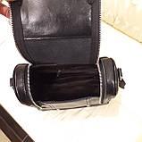 Женский черный рюкзак сумка из натуральной кожи Black, фото 3