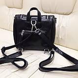 Женский черный рюкзак сумка из натуральной кожи Black, фото 9