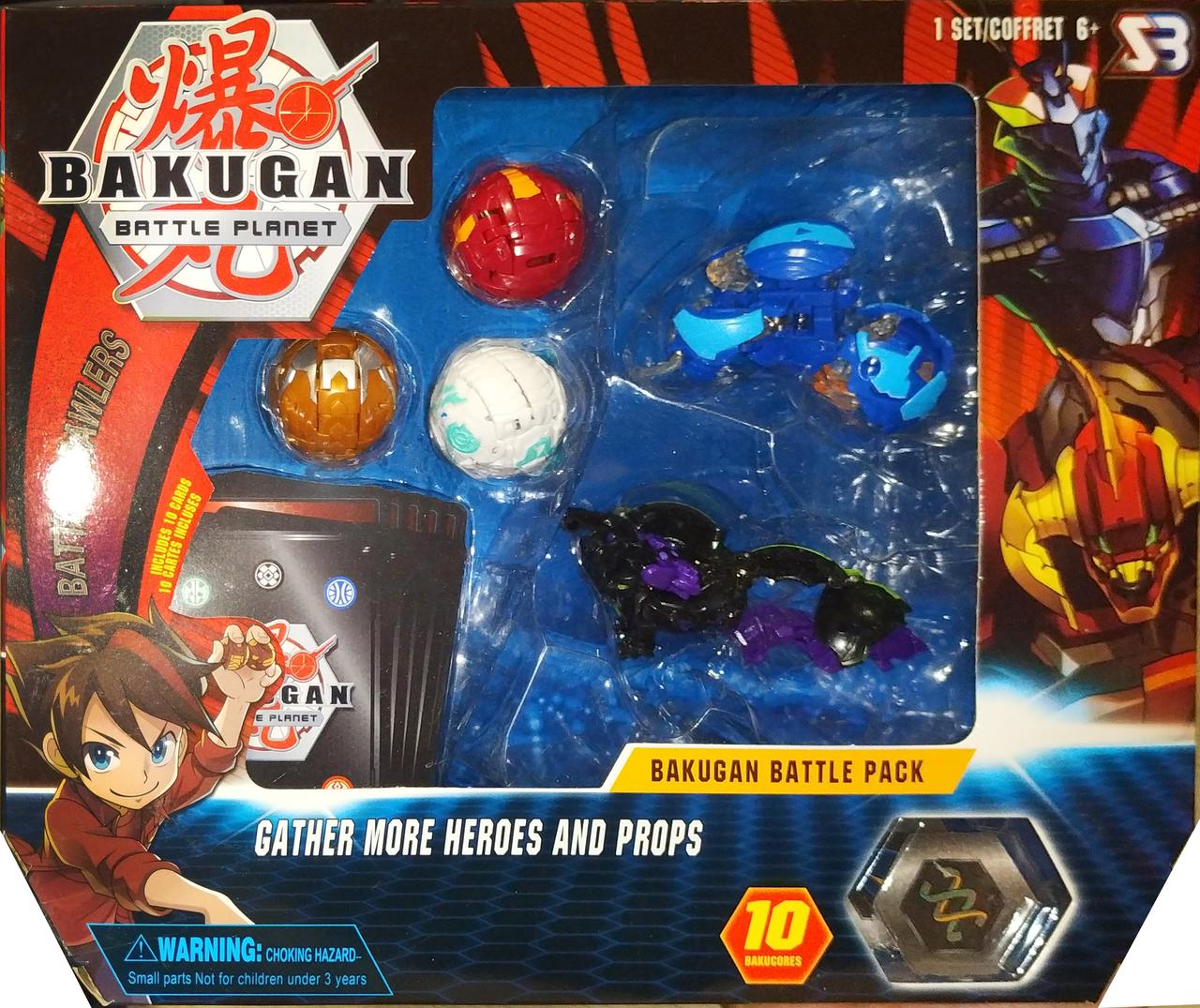 Набор игрушек героев бакуган bakugan 5 штук вид 3