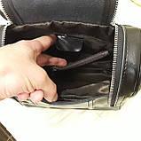 Женский черный рюкзак сумка из натуральной кожи Black, фото 10