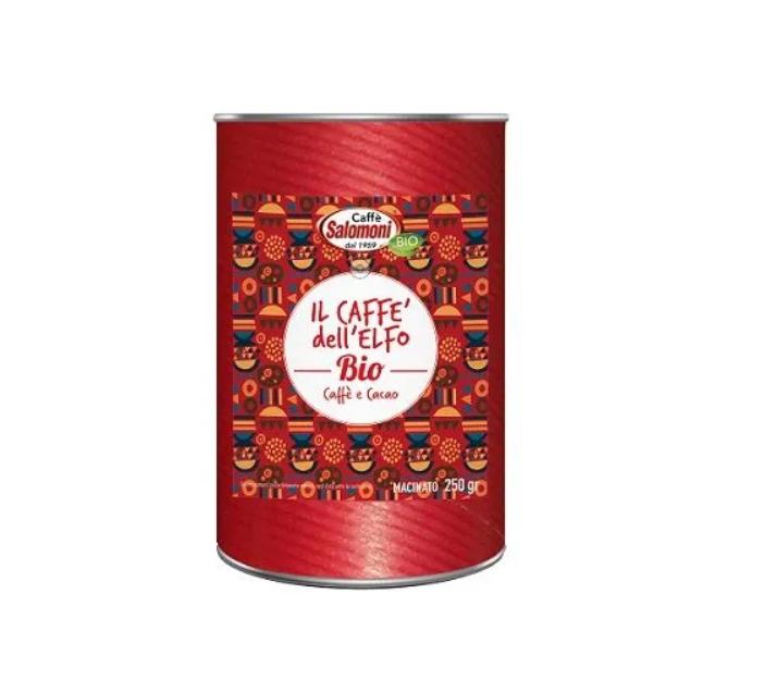 Органический кофе с какао в подарочной упаковке IL CAFFE 'DELL' ELFO Salomoni ,250 г