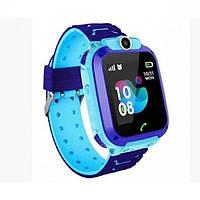 Умные Smart часы для детей с GPS трекером Smart Baby Watch S12 Голубые