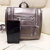 Женский бронзовый рюкзак сумка из натуральной кожи Bronze, фото 2