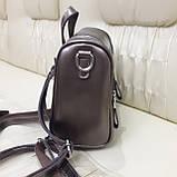 Женский бронзовый рюкзак сумка из натуральной кожи Bronze, фото 3