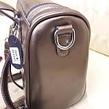 Женский бронзовый рюкзак сумка из натуральной кожи Bronze, фото 6
