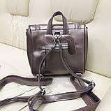 Женский бронзовый рюкзак сумка из натуральной кожи Bronze, фото 5