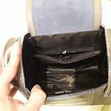 Женский бронзовый рюкзак сумка из натуральной кожи Bronze, фото 4