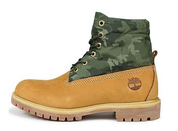 Мужские демисезонные ботинки Timberland Boots 'Military Ginger' (Premium-class) песочные