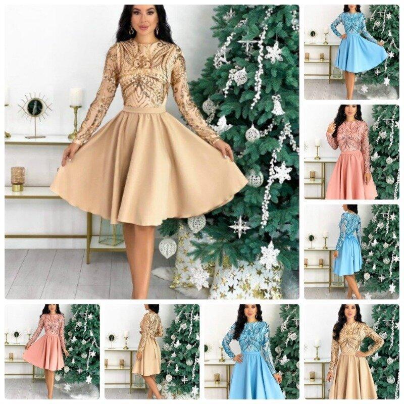 Вечернее женское платье верх красивая сетка на подкладке низ юбка солнце клеш сзади бант 3 цвета