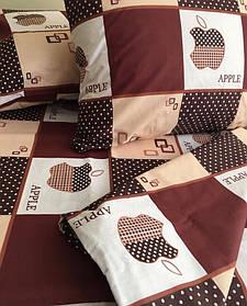 Постельное белье бязь Голд двуспальное Apple
