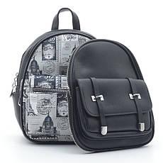 Рюкзак DS-649 черный (марки), фото 3