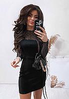 Женское платье из замши на дайвинге размера от S до XL