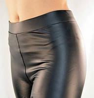 Лосины женские, кожаные Кеналин на флисе  М/L р., фото 1