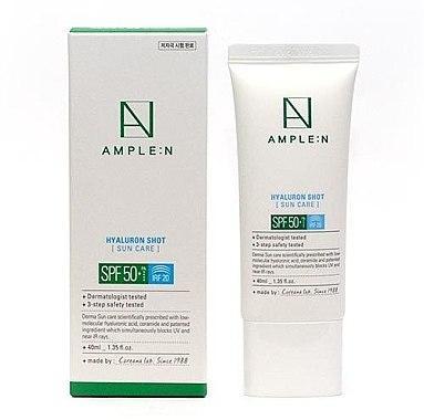 Ample:N Hyaluron Shot Sun Care SPF50 Солнцезащитный крем с гиалуроновой кислотой, 40 мл