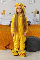 Детская пижама-кигуруми покемон пикачу 100 см, 110 см, 120  см