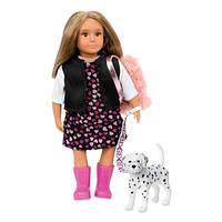 Lori Кукла Гиа c собачкой Далматинец, 15 см