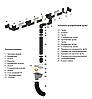 Водосточная система квадратная ПВХ Galeco PVC2 135 / 80 с универсальным регулируемым углом, фото 4