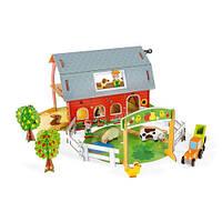 Janod Игровой набор - Ферма с животными 3D