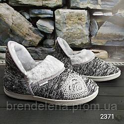 Женские теплые тапочки чуни Dago Style на меху (р37-39)