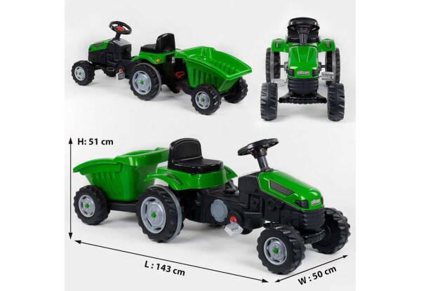 Трактор педальный с прицепом 07-316 зеленый, фото 2