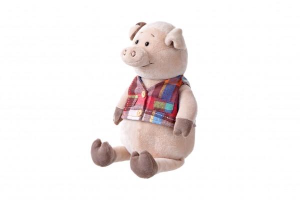 Same Toy Мягкая игрушка - Свинка в жилетке, 35 см