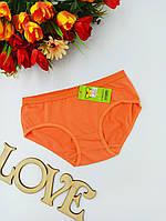 Трусики  детские  хлопок  (5-7 лет) оранжевые (001)