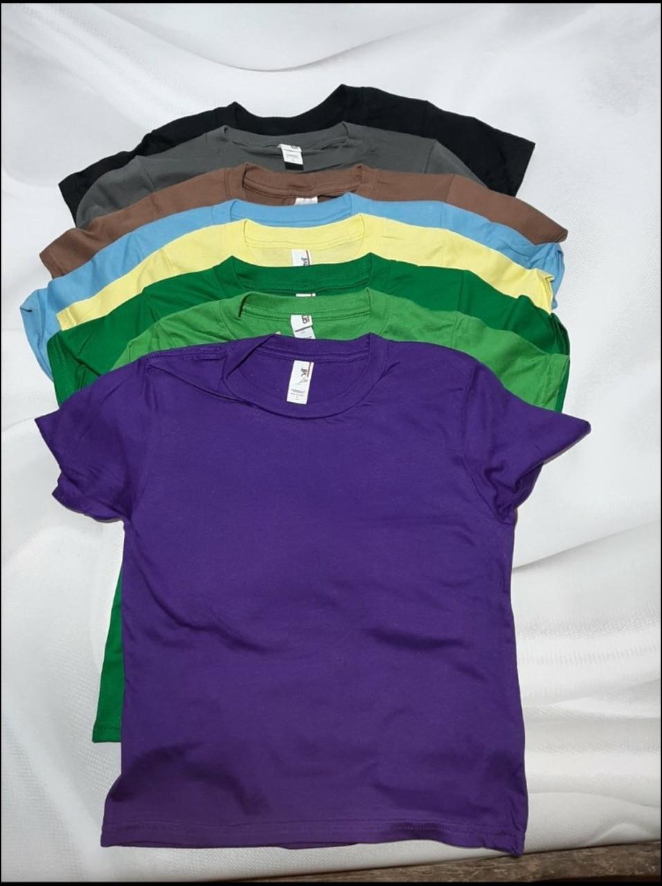 Детские футболки однотонные хлопковые