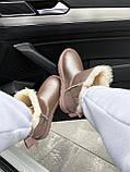 🔥 Угги угг женские зимние Ugg Mini Bailey Bow Ii серебристые розовые замшевые замша кожаные кожа короткие, фото 4