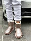 🔥 Угги угг женские зимние Ugg Mini Bailey Bow Ii серебристые розовые замшевые замша кожаные кожа короткие, фото 8
