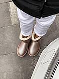 🔥 Угги угг женские зимние Ugg Mini Bailey Bow Ii серебристые розовые замшевые замша кожаные кожа короткие, фото 9