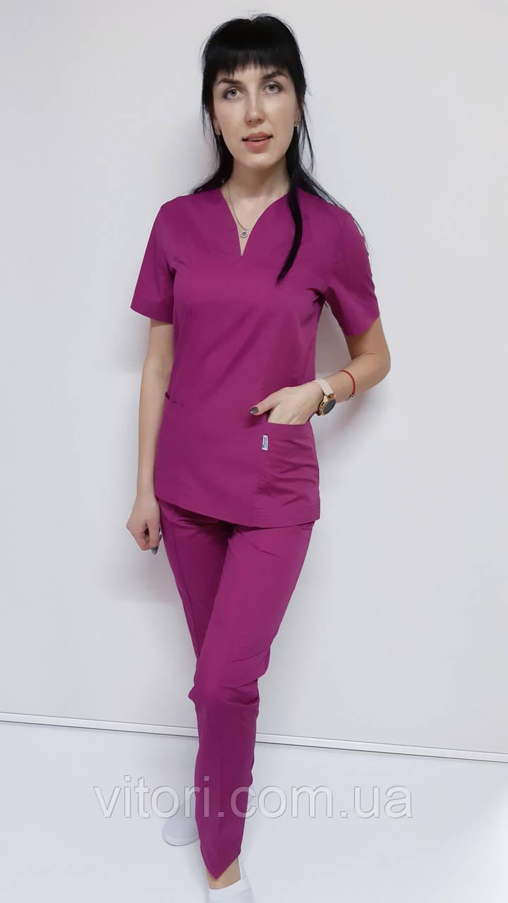 Жіночий медичний костюм Кенді бавовна короткий рукав