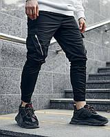 Теплые брюки карго мужские Пушка Огонь Angry Zipp черные