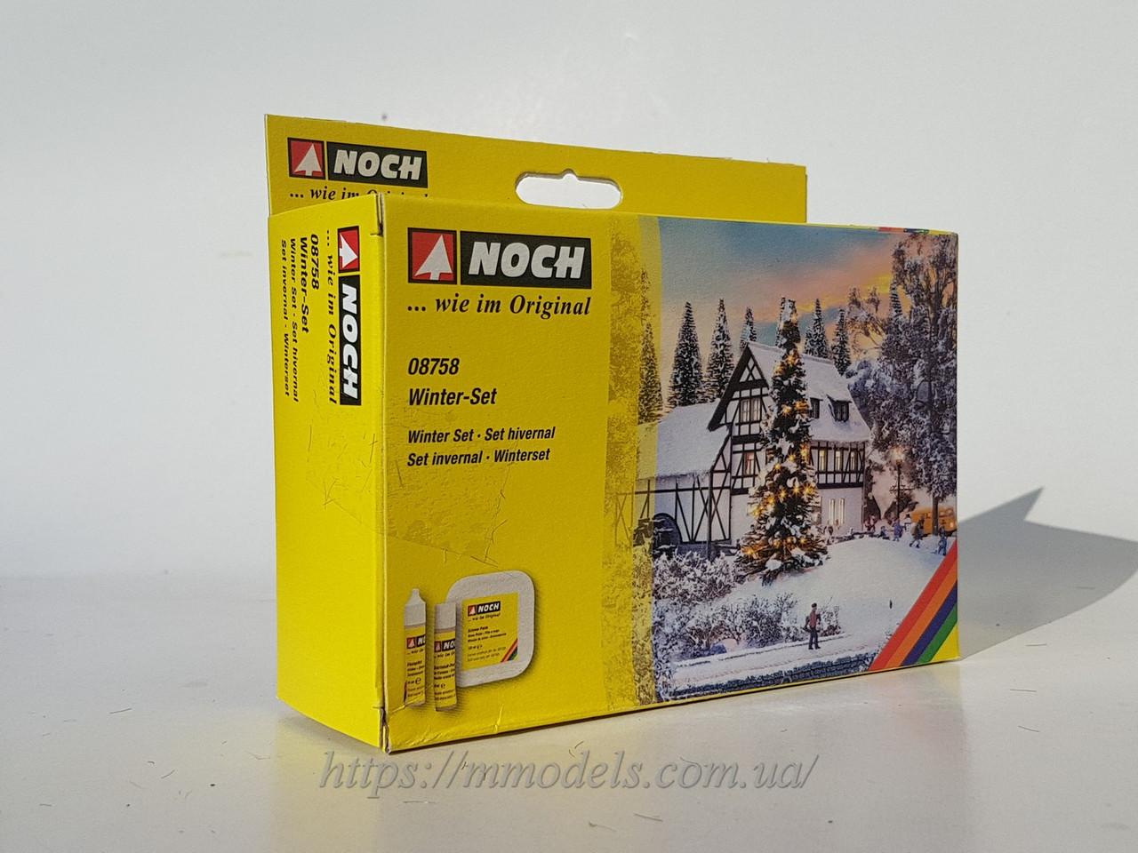 Зимний набор NOCH для создания зимнего пейзажа - для масштаба H0, TT, N / NOCH 08758