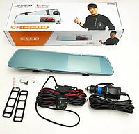 Зеркало видеорегистратор DVR A29 с двумя камерами touchscreen HD1080, Авторегистратор, Видеорегистратор
