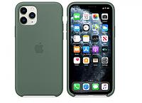 Чехол силиконовый на айфон Silicone Case для iPhone 11 Pro pine green зеленый