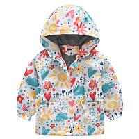 Куртка-ветровка для девочки Весенние краски Jomake (100)