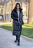 Подовжене пальто - пуховик, з коміром стійкою (р. S - XXL) 4502160, фото 2