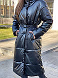 Подовжене пальто - пуховик, з коміром стійкою (р. S - XXL) 4502160, фото 3