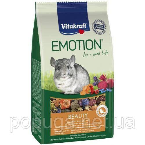 Корм для шиншилл Vitakraft «Emotion Beauty Selection» (для кожи и шерсти), 600г