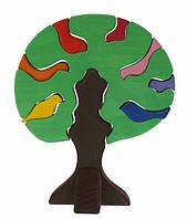 Nic Конструктор дерев яний - Дерево з пташками, темне
