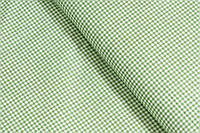 Сатин-твил Клеточка мелкая зелёная