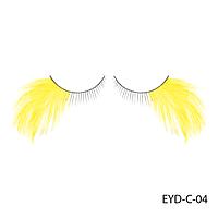 Ресницы декоративные накладные Lady Victory EYD-C-04 с натуральными перьями