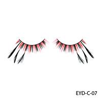 Ресницы декоративные накладные Lady Victory EYD-C-07 с натуральными перьями