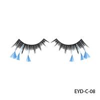Ресницы декоративные накладные Lady Victory EYD-C-08 с натуральными перьями