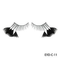 Ресницы декоративные накладные Lady Victory EYD-C-11 с натуральными перьями