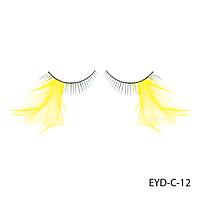 Ресницы декоративные накладные Lady Victory EYD-C-12 с натуральными перьями