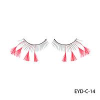 Ресницы декоративные накладные Lady Victory EYD-C-14 с натуральными перьями