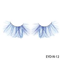Ресницы декоративные накладные Lady Victory EYD-N-12 из натуральных перьев