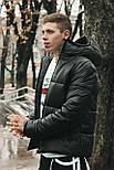 😜 Куртка - Мужскаяя зимняя куртка короткая черная, фото 3