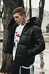 😜 Куртка - Мужскаяя зимняя куртка короткая черная, фото 2